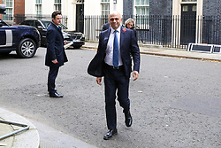 © Licensed to London News Pictures. 29/10/2019. London, UK. Chancellor of The Exchequer SAJID JAVID departs from Downing Street after attending the weekly cabinet meeting. Photo credit: Dinendra Haria/LNP
