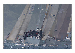 Bell Lawrie Series Tarbert Loch Fyne - Yachting.The first day's inshore races...Class 1 winners, Crackerjack GBR6R, a Swan 45 owned by Keith Miller, at the start of the Class One fleet..