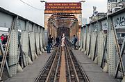 Fashion shoot on Hanoi Railway Bridge