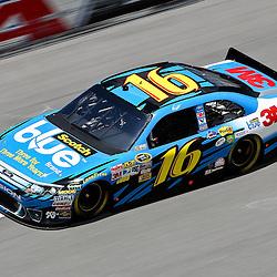 April 16, 2011; Talladega, AL, USA; NASCAR Sprint Cup Series driver Greg Biffle (16) during qualifying for the Aarons 499 at Talladega Superspeedway.   Mandatory Credit: Derick E. Hingle