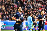 Joie PSG - Javier PASTORE - 18.01.2015 - Paris Saint Germain / Evian Thonon - 21eme journee de Ligue 1<br />Photo : Dave Winter / Icon Sport