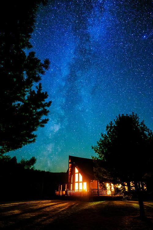 Milky Way over Pucker Street, Potter Hollow, NY.