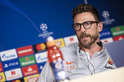 September 18, 2018 - Madrid, Spain - Coach Eusebio Di Francesco of Roma during press conference the day before Champions League match between Real Madrid and Roma at Santiago Bernabeu Stadium in Madrid, Spain. September 18, 2018. (Credit Image: © Coolmedia/NurPhoto/ZUMA Press)