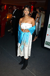 """Children's TV presenter KONNIE HUQ at the 10th annual British Red Cross London Ball.  This years ball theme was Indian based - """"Yaksha - Yakshi: Doorkeepers to the Divine"""" and was held at The Room, Upper Ground, London on 1st December 2004.  Proceeds from the ball will aid vital humanitarian work, including HIV/AIDS projects that the Red Cross supports in the UK and overseas.<br /><br />NON EXCLUSIVE - WORLD RIGHTS"""