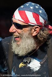 William Miller of Augusta, GA at the Boot Hill Saloon on the final Saturday of Daytona Bike Week. FL, USA. March 15, 2014.  Photography ©2014 Michael Lichter.