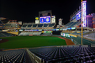[Note:  This photo is an HDR image made up of 5 exposures that were combined in post-processing.]  The stands are empty at Target Field after the final Minnesota Twins game of the season on September 28, 2011 in Minneapolis, Minnesota.  The Twins defeated the Royals 1 to 0.