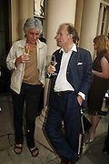 David Ogilvy and David Campbell, Tatler Summer party ( in association with Fendi) Home House, Portman Sq. 29 June 2006. ONE TIME USE ONLY - DO NOT ARCHIVE  © Copyright Photograph by Dafydd Jones 66 Stockwell Park Rd. London SW9 0DA Tel 020 7733 0108 www.dafjones.com