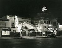 1944 Brown Derby on Vine St. at night