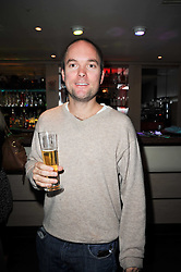 Hugo Chittenden at a screening of the short film 'The Volunteer' held at the Courthouse Hilton Hotel, 19-21 Great Marlborough Street, London W1 on 26th October 2009.