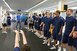 27 November 2007: North Carolina Tar Heels men's lacrosse during a weight lifting session in Chapel Hill, NC.