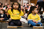 The Nucleo Project 6th Anniversary Concert 2019. The Nucleo Project is a Sistema programme working with children and young people in North Kensington, part of the 'social action through music' movement. London, Feb. 12, 2019. (Photos/Ivan Gonzalez)