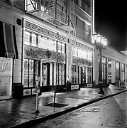 Y-631226A-03. Barbary Coast, NW Hoyt in the Hoyt Hotel, night shots for PGE. December 26, 1963