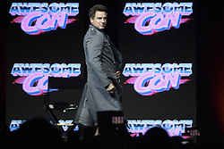 June 17, 2017 - Washington, DC, U.S - John Barrowman, of television shows such as Doctor Who and Arrow, wearing an overcoat similar to one worn by his character Captain Jack Harkness, as he took the stage for his Q&A session at Awesome Con 2017. (Credit Image: © Evan Golub via ZUMA Wire)