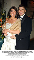 RICHARD PARK and his wife ANNA - he is the 'headmaster' in Fame Academy and a leading figure in radio, at a party in London on 26th February 2004.PSB 68