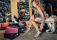 Model dressed  a-la Sex and the City  style at Miss Louise shoe store Melb. - Pic By Craig Sillitoe 27/05/2010 SPECIAL 000  Pic By Craig Sillitoe CSZ / The Sunday Age melbourne photographers, commercial photographers, industrial photographers, corporate photographer, architectural photographers, This photograph can be used for non commercial uses with attribution. Credit: Craig Sillitoe Photography / http://www.csillitoe.com<br /> <br /> It is protected under the Creative Commons Attribution-NonCommercial-ShareAlike 4.0 International License. To view a copy of this license, visit http://creativecommons.org/licenses/by-nc-sa/4.0/.