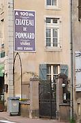 Chateau de Pommard. The village. Pommard, Cote de Beaune, d'Or, Burgundy, France