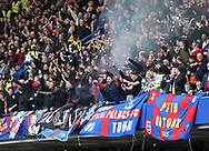 Crystal Palace's fans celebrate their sides second goal during the Premier League match at the Stamford Bridge Stadium, London. Picture date: April 1st, 2017. Pic credit should read: David Klein/Sportimage via PA Images