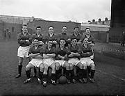 15/02/1958<br /> 02/15/1958<br /> 15 February 1958<br /> F.A.I. Cup Bohemians v Evergreen at Dalymount Park, Dublin. The Bohemians team.