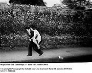 Magdalene Ball, Cambridge. 17 June 1981. film 8129f34<br />© Copyright Photograph by Dafydd Jones<br />66 Stockwell Park Rd. London SW9 0DA<br />Tel 0171 733 0108