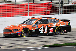 February 22, 2019 - Hampton, GA, U.S. - HAMPTON, GA - FEBRUARY 22: #41: Daniel Suarez, Stewart-Haas Racing, Ford Mustang Arris during first practice for the MENCS Folds of Honor QuikTrip 500 race on February 22, 2019 at the Atlanta Motor Speedway in Hampton, GA.  (Photo by David John Griffin/Icon Sportswire) (Credit Image: © David J. Griffin/Icon SMI via ZUMA Press)