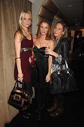 Left to right, POPPY DELEVINGNE, AMANDA CROSSLEY and ALICE DAWSON at a party to celebrate the launch of the Kova & T fashion label and to re-launch the Harvey Nichols Fifth Floor Bar, held at harvey Nichols, Knightsbridge, London on 22nd November 2007.<br />