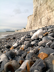 UK ENGLAND EAST SUSSEX BIRLING GAP 30SEP10 - White chalk cliffs at Birling Gap near Beachy Head, southern England. ..jre/Photo by Jiri Rezac..© Jiri Rezac 2010