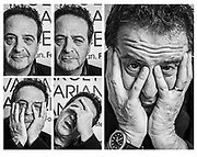The many faces of Mark Thomas, comedian. Client Target Ovarian Cancer
