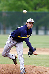 28 April 2012:  Ben Heaton during an NCAA division 3 Baseball game between the Augustana Vikings and the Illinois Wesleyan Titans in Jack Horenberger Stadium, Bloomington IL