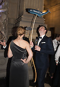 FLORENCE JUDD; ROB SHERWOOD, Ball at to celebrateBlanche Howard's 21st and  George Howard's 30th  birthday. Dress code: Black Tie with a touch of Surrealism. Castle Howard. Yorkshire. 14 November 2015
