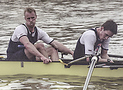 London, Great Britain, <br /> Oxford UBC. left Brian PALM and  Matt SMITH after losing the race.<br /> 147th Oxford vs Cambridge Varsity Boat Race, Over the Championship Course, Putney To Mortlake. 24.03.2001<br /> <br /> [Mandatory Credit: Peter SPURRIER/Intersport Images] [Mandatory Credit; Peter SPURRIER/Intersport Images]<br /> <br /> 20010324 University Boat Race, Putney to Mortlake, London, Great Britain.