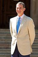 080814 King Felipe VI receives Mariano Rajoy at Marivent Palace