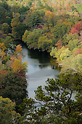 View of Little River from Devil's Backbone in SE Oklahoma