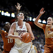 UNCASVILLE, CONNECTICUT- DECEMBER 4: Natalie Butler #51 of the Connecticut Huskies prepares to shoot while defended by Joyner Holmes #24 of the Texas Longhorns during the UConn Huskies Vs Texas Longhorns, NCAA Women's Basketball game in the Jimmy V Classic on December 4th, 2016 at the Mohegan Sun Arena, Uncasville, Connecticut. (Photo by Tim Clayton/Corbis via Getty Images)