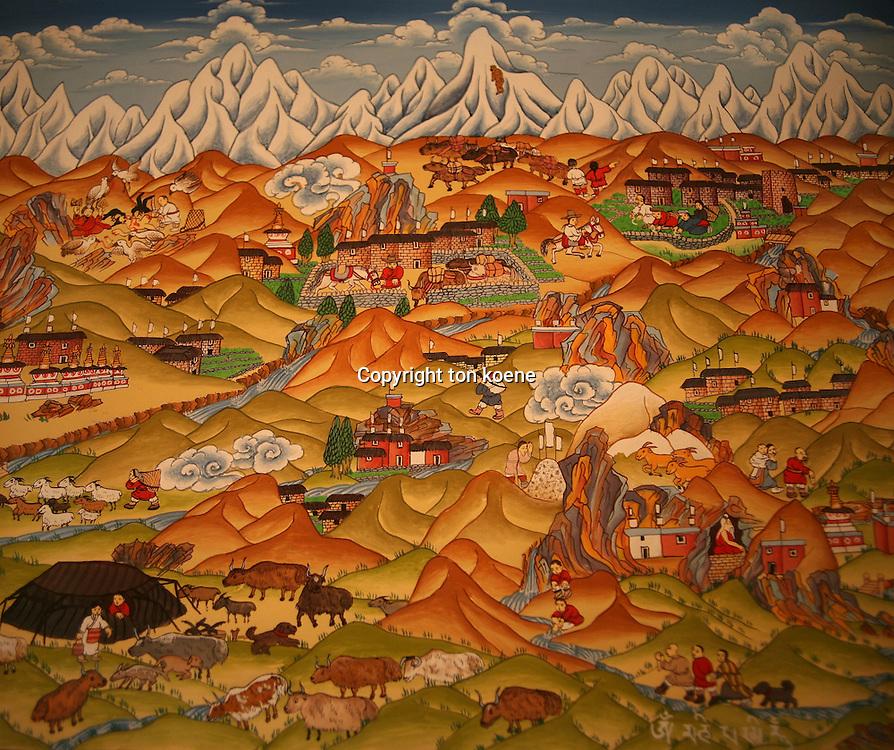 painting of Tibet