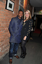 JB GILL from pop group JLS and CHLOE TANGLEY at the Raymond Weil Pre-Brit Awards Dinner held at The Mosaica, The Chocolate Factory, Clarendon Rd, Wood Green, London N22 on 24th January 2013.