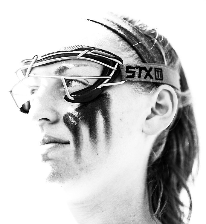 Caroline Raymond of the Army Black Knights before an NCAA Division I women's lacrosse game between the Army Black Knights and Boston University Terriers at Michie Stadium on April 6, 2019 in West Point, NY.