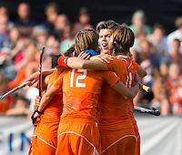 WATERLOO (Belgie) - Vreugde bij Oranje. midden Daniel Aarts. Het Nederlands Jong Oranje -21 mannen winnen de EK finale van Duitsland met 5-2. COPYRIGHT KOEN SUYK