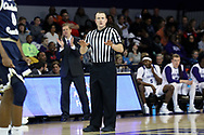 HIGH POINT, NC - JANUARY 06: Referee JW Lucas. The High Point University of Panthers hosted the Charleston Southern University Buccaneers on January 6, 2018 at Millis Athletic Convocation Center in High Point, NC in a Division I men's college basketball game. HPU won the game 80-59.