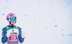 01.01.2020, Olympiaschanze, Garmisch Partenkirchen, GER, FIS Weltcup Skisprung, Vierschanzentournee, Garmisch Partenkirchen, Wertungssprung, im Bild Daniel Huber (AUT) // Daniel Huber of Austria reacts after his competition Jump for the Four Hills Tournament of FIS Ski Jumping World Cup at the Olympiaschanze in Garmisch Partenkirchen, Germany on 2020/01/01. EXPA Pictures © 2019, PhotoCredit: EXPA/ JFK