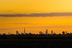 2015-09-25 Essex view of sunset over London's skyline