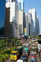 Chine, Hong Kong, Hong Kong Island, Connaught road Central // China, Hong-Kong, Hong Kong Island, Connaught road Central