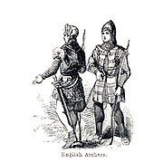 English Archers From the Book 'Danes, Saxons and Normans : or, Stories of our ancestors' by Edgar, J. G. (John George), 1834-1864 Published in London in 1863