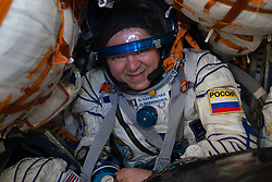 Expedition 62 crew member Oleg Skripochka of Roscosmos smiles after he and NASA astronauts Andrew Morgan and Jessica Meir landed in their Soyuz MS-15 spacecraft in a remote area near the town of Zhezkazgan, Kazakhstan on Friday, April 17, 2020. Meir and Skripochka returned after 205 days in space, and Morgan after 272 days in space. All three served as Expedition 60-61-62 crew members onboard the International Space Station.<br /> <br /> Where: Zhezkazgan, Kazakhstan<br /> When: 17 Apr 2020<br /> Credit: NASA/GCTC/Andrey Shelepin/Cover Images<br /> <br /> **Editorial use only**