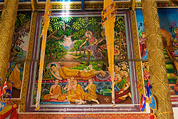 Picture Of Buddha Resting At New Temple