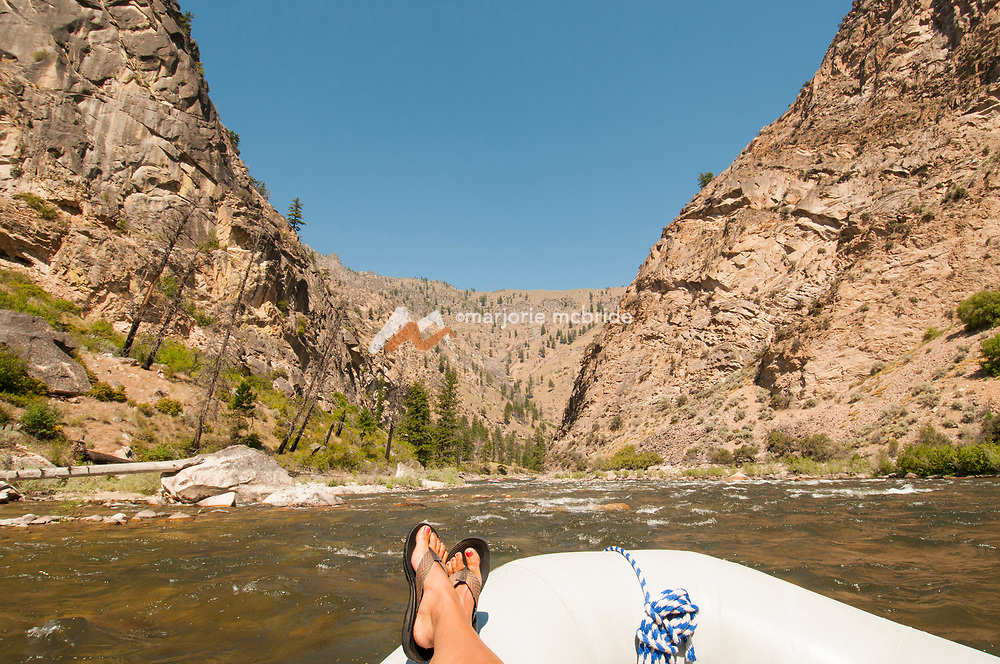Scenic granite view while rafting on the Middle Fork of the Salmon River, Idaho.