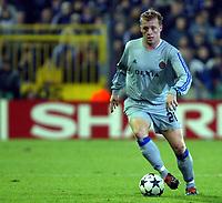 Fotball<br /> UEFA Champions League 2003/2004<br /> 04.11.2003<br /> Club Brügge / Brugge v AC Milan<br /> Birger Maertens - Brugge<br /> Foto: Morten Olsen, Digitalsport