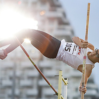 Dewey Ng of Nanyang Technological University in action during the men's pole vault event. (Photo © Lim Yong Teck/Red Sports) The 2018 Institute-Varsity-Polytechnic Track and Field Championships were held over three days in January.<br /> <br /> Story: https://www.redsports.sg/2018/01/15/ivp-day-one/<br /> <br /> Story: https://www.redsports.sg/2018/01/18/ivp-day-two/<br /> <br /> Story: https://www.redsports.sg/2018/01/23/ivp-day-three/