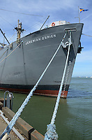 World War II liberty ship, Jeremiah O'Brien, one of numerous tourist attactions at Fisherman's Wharf, San Francisco, California, USA. Over 2700 of these vessels were built to ferry much-needed supplies to wartime Britain. 201304131390<br /> <br /> Copyright Image from Victor Patterson, 54 Dorchester Park, Belfast, UK, BT9 6RJ<br /> <br /> Tel: +44 28 9066 1296<br /> Mob: +44 7802 353836<br /> Voicemail +44 20 8816 7153<br /> Skype: victorpattersonbelfast<br /> Email: victorpatterson@me.com<br /> Email: victorpatterson@ireland.com (back-up)<br /> <br /> IMPORTANT: If you wish to use this image or any other of my images please go to www.victorpatterson.com and click on the Terms & Conditions. Then contact me by email or phone with the reference number(s) of the image(s) concerned.
