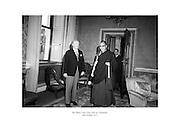 The Dalai Lama visits President Childers at áras an Uachtaráin.<br /> <br /> 10th October 1973<br /> 10/08/1973