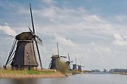 Row of Kinderdijk Windmills, The Netherlands.